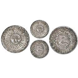 Argentina (River Plate Provinces), 1/2 real, 1815F, Potosi mint, PCGS AU58.