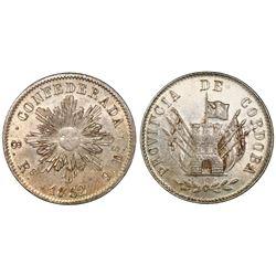 Cordoba, Argentina, 8 reales, 1852, NGC MS 62.