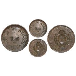 """Argentina (occupation in Paraguay after the War of the Triple Alliance), copper 20 centavos, """"D.O"""" ("""