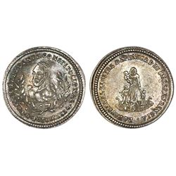 Potosi, Bolivia, proclamation 1 sol, 1854, Belzu, NGC MS 62, finest and only known example in NGC ce