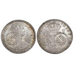 Brazil (Minas Gerais), 960 reis, Joao Prince Regent, crowned-arms counterstamp (1809) on a Potosi, B