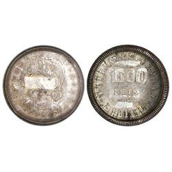 "Brazil, 1000 reis, 1911, ""capped die"" error, very rare."