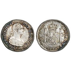 Bogota, Colombia, bust 1 real, Ferdinand VII (bust of Charles IV), 1812JF, ex-Gomez.