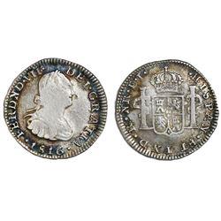 Bogota, Colombia, bust 1/2 real, Ferdinand VII, 1816FJ, ex-Betancor.