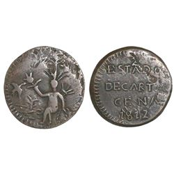 Cartagena, Colombia, copper 1/2 real, 1812.
