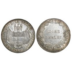Bogota, Colombia, 10 reales, 1848.
