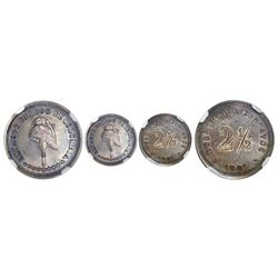 Colombia (struck at the Waterbury mint, Connecticut), silver proof pattern 2-1/2 centavos, 1881, sla