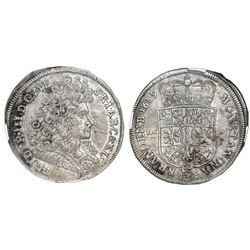 Brandenburg (German States), 2/3 taler, 1689-LCS, Friedrich III, Berlin mint, NGC AU 55.
