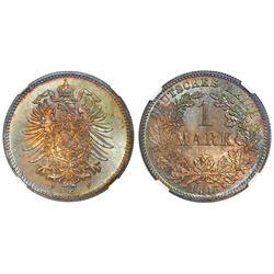 Stuttgart, Germany, 1 mark, 1886-F, NGC MS 65.