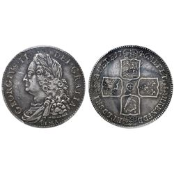 Great Britain (London, England), half crown, George II, 1746, with LIMA below bust, PCGS XF45.