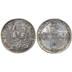 Great Britain (London, England), half crown, George II, 1746, with LIMA below bust.