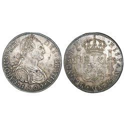 Guatemala, bust 8 reales, Charles IV, 1800M.
