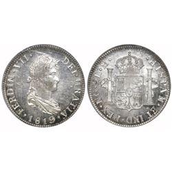 Guatemala, bust 2 reales, Ferdinand VII, 1819M, PCGS MS63.