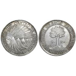 Guatemala, Central American Republic, 8 reales, 1824M.