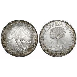 Guatemala (Central American Republic), 8 reales, 1847A.