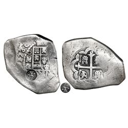 Quetzaltenango, Guatemala, 8 reales, Type I countermark (1838, rare) on shield side of a Mexico City