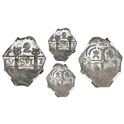 "Tegucigalpa, Honduras, provisional ""imitation cob"" 2 reales, (1823)-P(MPY), NGC MS 64*, ex-Richard S"