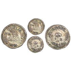 Tegucigalpa, Honduras (Central American Republic), 2 reales, 1825NR, rare.