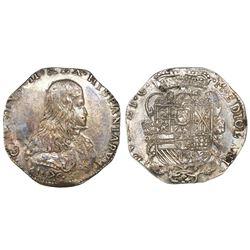Milan, Italian States, 1 filippo, 1676, Carlo II, NGC MS 61.