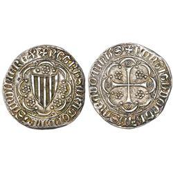 Sardinia (Villa di Chiesa), Italian States, 1/2 alfonsino, (1336-87), Pietro IV of Aragon, NGC AU 55