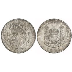 Mexico City, Mexico, pillar 8 reales, Ferdinand VI, 1751MF.