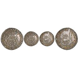 Mexico City, Mexico, pillar 1 real, Philip V, 1732, no assayer or denomination, very rare.