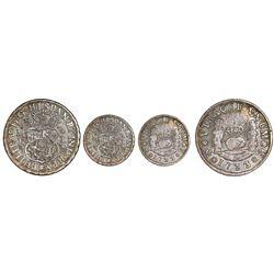 Mexico City, Mexico, pillar 1 real, Philip V, 1733/2, assayer MF/F, very rare.
