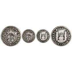 Mexico City, Mexico, pillar 1 real, Philip V, 1733F, mintmark M.X, very rare.