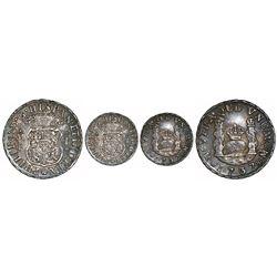Mexico City, Mexico, pillar 1 real, Philip V, 1737MF.