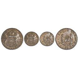 Mexico City, Mexico, pillar 1 real, Philip V, 1738MF.