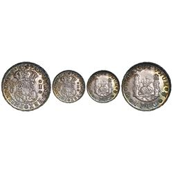 Mexico City, Mexico, pillar 1 real, Philip V, 1740MF.