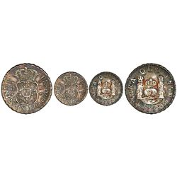 Mexico City, Mexico, pillar 1 real, Philip V, 1745M.