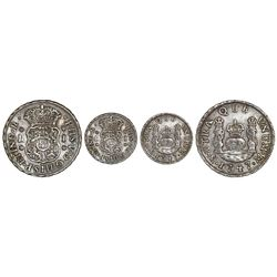 Mexico City, Mexico, pillar 1 real, Philip V, 1747M, rare.