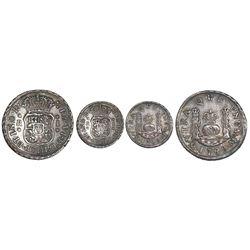 Mexico City, Mexico, pillar 1 real, Ferdinand VI, 1749M.