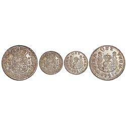 Mexico City, Mexico, pillar 1 real, Ferdinand VI, 1751M, unbarred-H variety.