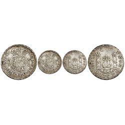Mexico City, Mexico, pillar 1 real, Ferdinand VI, 1760M, rare.