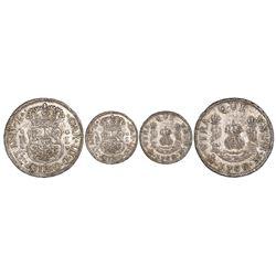 Mexico City, Mexico, pillar 1 real, Charles III, 1760M.