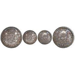 Mexico City, Mexico, pillar 1 real, Charles III, 1769/70M [sic], very rare.