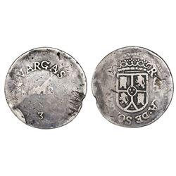 Sombrerete de Vargas, Mexico, 8 reales, 1812, PCGS F12.