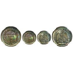 Mexico City, Mexico, bronze 1 centavo, 1896, NGC MS 65 BN.
