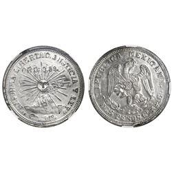 Guerrero (Campo Morado), Mexico, silver-and-gold 2 pesos, 1915-CoMo, NGC MS 62.