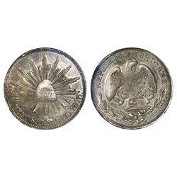 Guerrero (Campo Morado), Mexico, silver-and-gold 2 pesos, 1915-CM, NGC AU 50.