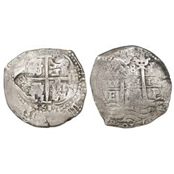 "Brabant, Spanish Netherlands, 48 patards, ""Golden Fleece"" countermark (1666-72) on a Potosi, Bolivia"