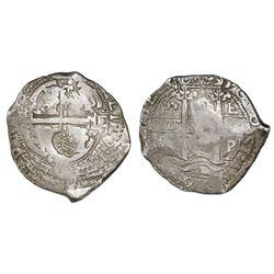 "Brabant, Spanish Netherlands, 48 patards, ""Golden Fleece"" countermark (1666-72) on a Potosi, Bolivia"