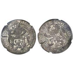 """Holland, United Netherlands, """"lion"""" daalder, 1589, NGC XF 45."""