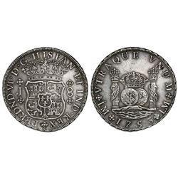 Lima, Peru, pillar 8 reales, Ferdinand VI, 1753J.