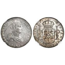 Lima, Peru, bust 8 reales, Ferdinand VII, 1815JP, NGC MS 61.
