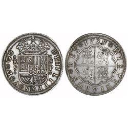 Seville, Spain, milled 8 reales, Philip V, 1728P.