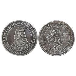 Stockholm, Sweden, 1 riksdaler, Christina, 1646, NGC VF 35.