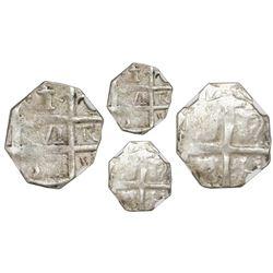 """Barinas (Caujaral), Venezuela, """"imitation cob"""" 1 real (""""chipi-chipi""""), """"571"""" date (ca. 1817), NGC VF"""